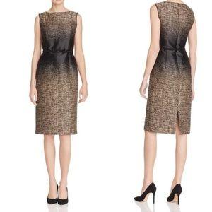 Lafayette 148 Paulette Belted Ombré Sheath Dress